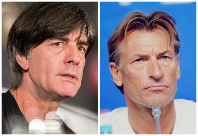 (左)ルナール監督(モロッコサッカー連盟の公式フェイスブックより)/(右)レーヴ監督(ドイツサッカー連盟公式ツイッターより)