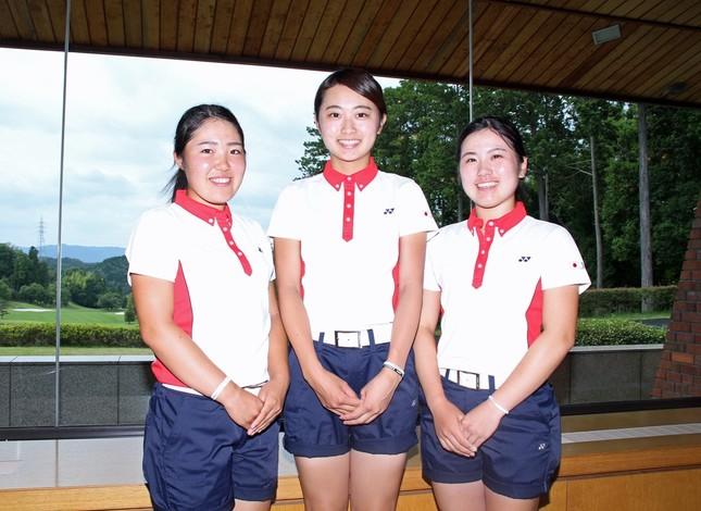 (左から)古江選手、安田選手、西村選手