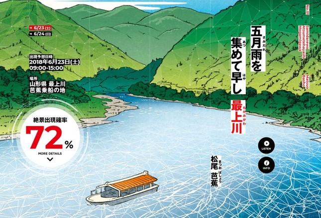 松尾芭蕉が詠んだ「最上川」