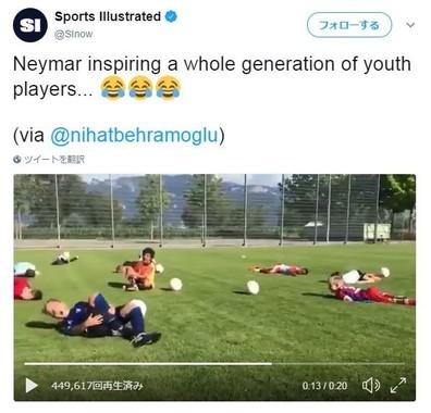 米のスポーツメディア「Sports Illustrated」の公式ツイッターより