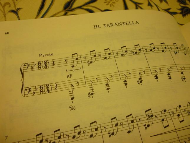 不気味な低音域から始まる『タランテラ』