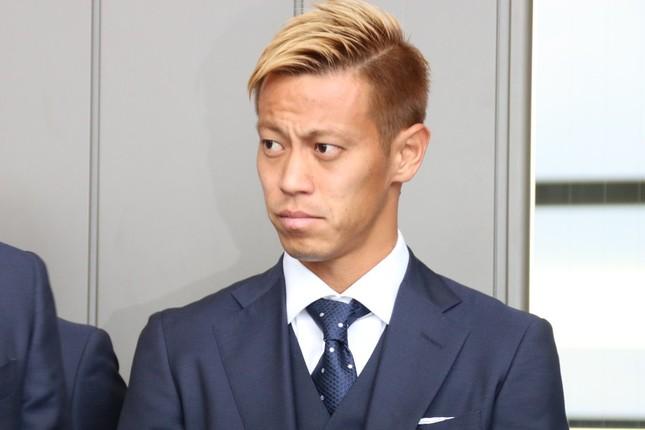 寄付を宣言した本田圭佑選手(2018年6月2日撮影)