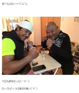 プロレスデビューに向けてジム通いするHIROさん(HIROさんの公式ブログより)