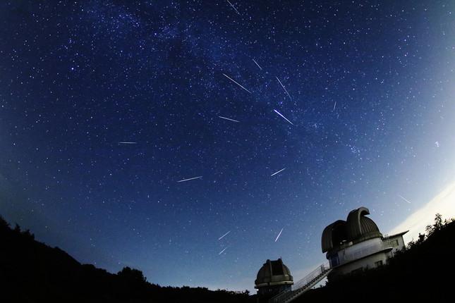 ペルセウス流星群(c)国立天文台