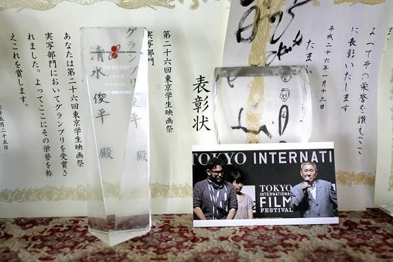 第26回東京学生映画祭実写部門グランプリに輝いた映画『ふざけるんじゃねえよ』は40分の作品。(公財)韓昌祐・哲文化財団の助成を受け、一般の映画館で上映できる尺(しゃく)の、初の長編作品に挑戦する