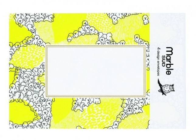 女性に人気のアパレルブランド「marble SUD」とコラボしたレター&封筒