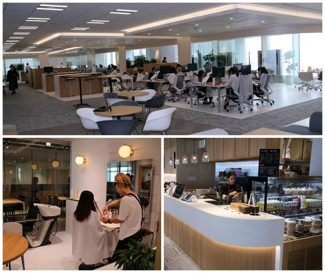「新オフィスの設備」の一例