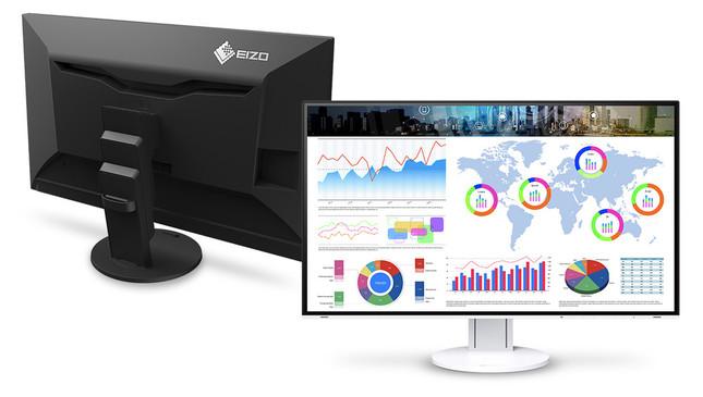 31.5型の大画面に高精細4K表示、作業効率アップ