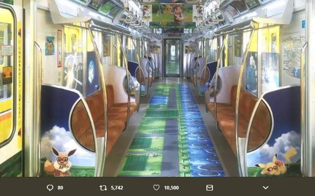 「ポケモン ピカ・ブイ」スペシャルトレインは8月30日まで(ポケモン公式ツイッターより)