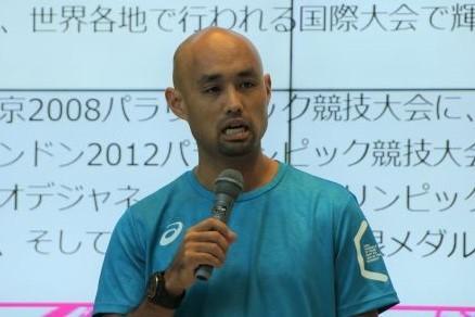 陸上・山本篤選手(2018年8月撮影)