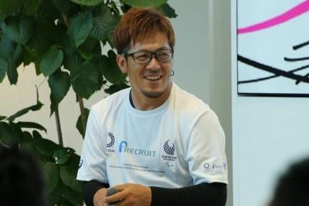 車いすテニス・菅野浩二選手(2018年8月撮影)