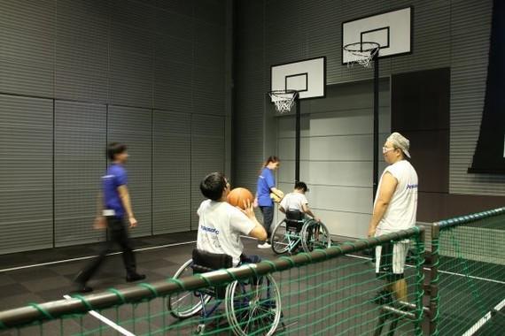 競技体験も実施された(2018年8月撮影)