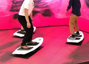 渋谷スクランブル交差点の人波に「乗る」 デジタルコンテンツ「BIT WAVE SURFIN'」