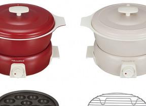 「煮る」「炊く」「蒸す」に加え「たこ焼き」も 卓上調理鍋