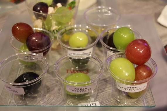 日本各地のぶどうを食べ比べできる葡萄プレート(2018年9月撮影)