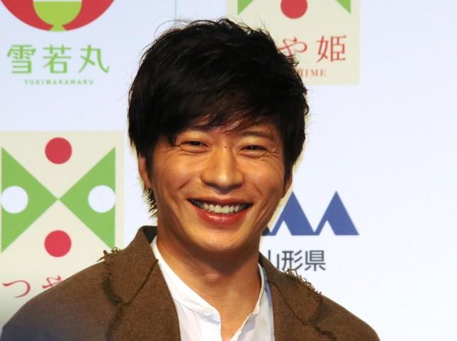 「雪若丸」新CM発表会に登壇した田中圭さん(写真は2018年10月6日撮影)