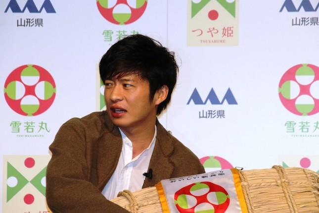 発表会で米1俵がプレゼントされた