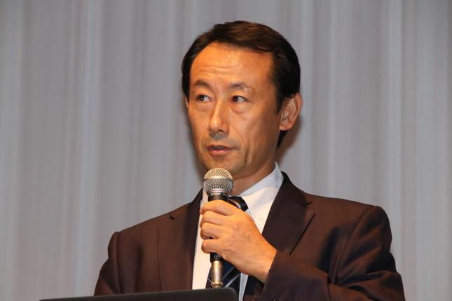 基調講演で登壇した経済産業省の江崎禎英氏