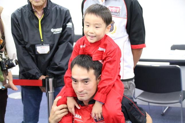 日本代表の井口選手。大会には家族が応援にかけつけた。