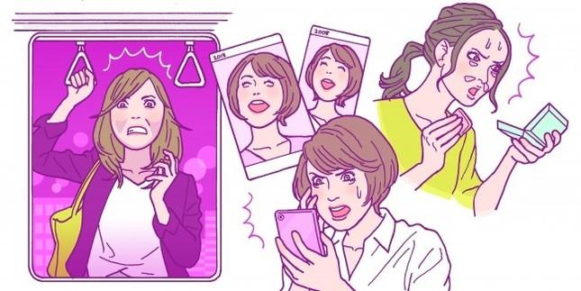 30~40代女性の「顔のエイジングサインの平均自覚年齢」は33.9歳