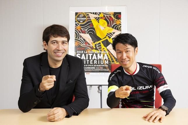 左からサッシャさん、栗村修さん