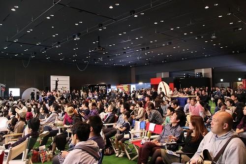 会場には多くの人が集まり、日本代表戦を見守った