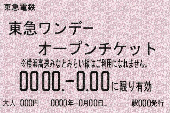 東急ワンデーオープンチケット