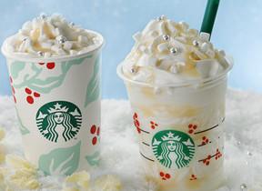 ホワイトクリスマスの特別感を表現 スタバのビバレッジ2種
