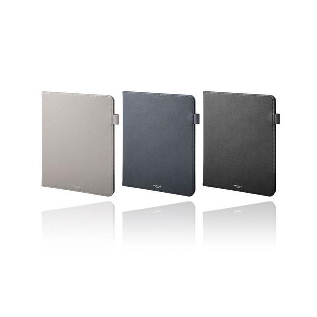 汚れや傷に強いサフィアーノ調PUレザーをまとい、iPad Proをしっかり保護