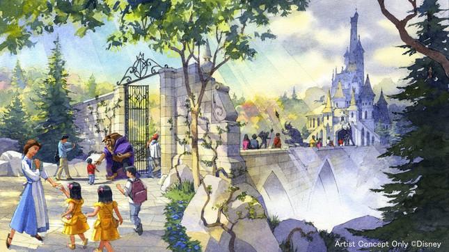 大型アトラクション「美女と野獣『魔法のものがたり』」外観イメージ