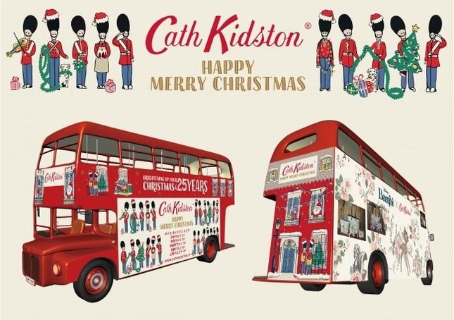 キャス キッドソンクリスマスデザインとバンビコラボのクリスマスシャトルバス