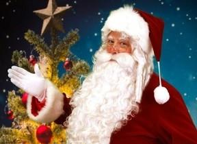 サンタが部屋にやって来る&ゴスペルのプレゼント