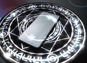 スマホを置くと「魔法陣」起動!? 図形や文字が点灯するワイヤレス充電器