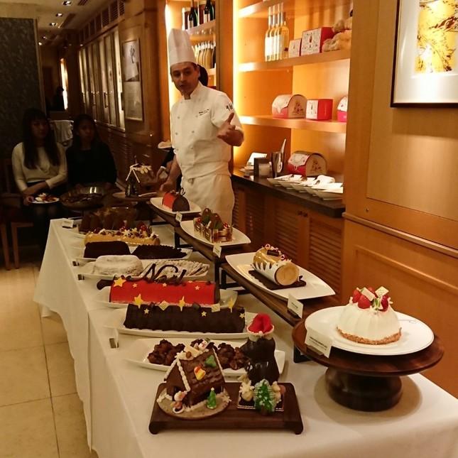 いろいろなケーキが並んだ