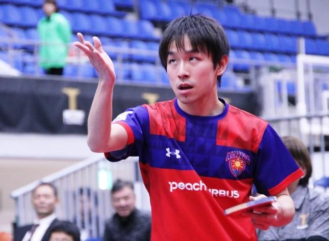 チームに勝利をもたらした丹羽孝希選手(琉球アスティーダ)