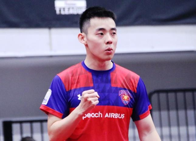 第2マッチでT.T彩たま・吉村真晴選手に勝利した、琉球アスティーダ・陳建安選手