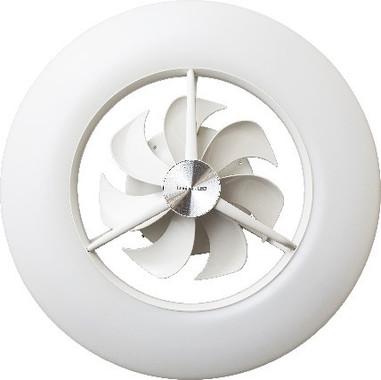 低い天井でも圧迫感なく取り付けられる薄型設計、1台2役