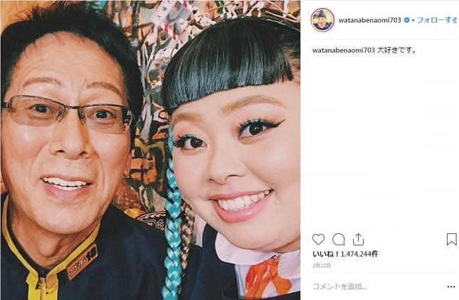 2018年、日本で最も「いいね!」が多かった渡辺直美さんの投稿写真