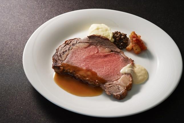 「Roast Beef & Grill ROSSINI」で提供されるローストビーフ