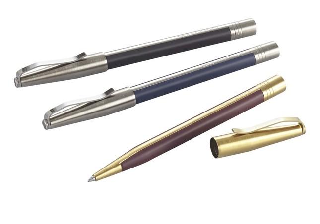 鉛筆の層構造を採用したデザイン