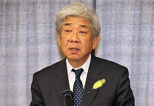 受彰者挨拶に立った大﨑共同代表取締役社長CEO