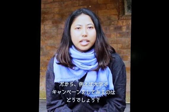 ネパールの女の子・プスパさんからのメッセージ(2018年12月撮影)