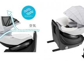 電動式ファンを標準装備 新生児対応チャイルドシート
