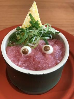 「鬼」をイメージした「竹姫寿司」。インスタ映えしそうな逸品だ