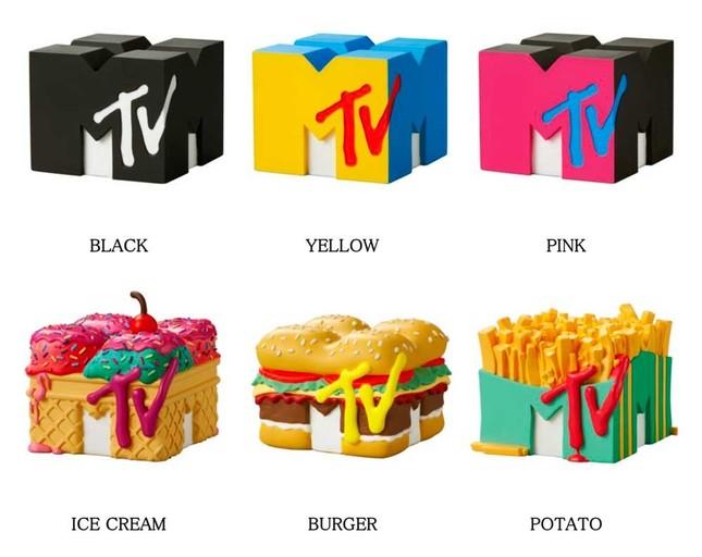ビビッドなカラーリングやデザインが印象的な「MTV」ロゴが手のひらサイズに