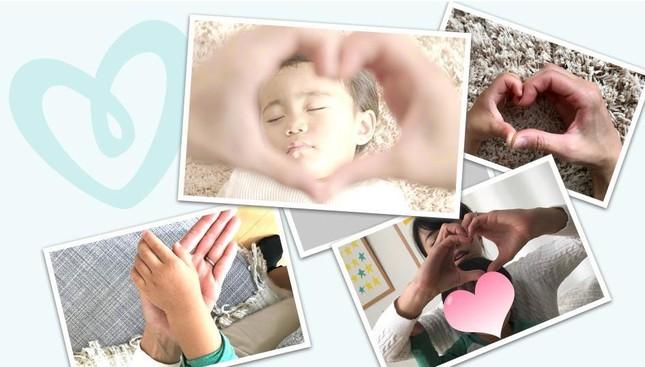 「♯パンパースハートキャンペーン ~1万回のLoveを伝えよう~」では、ママ&パパが赤ちゃんに愛を伝える投稿を募集中。赤ちゃんと一緒にハートマークを作った写真をアップしよう