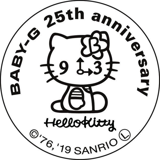 裏ぶたには時計の顔をしたオリジナルHELLO KITTYを刻印(C)1976,2019 SANRIO CO.,LTD.APPROVAL NO.S594388