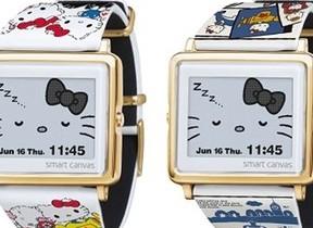 「Hello Kitty」45周年限定モデルウオッチ2種 「Smart Canvas」から