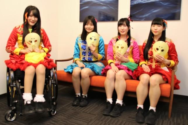 (左から)「仮面女子」・猪狩ともかさん、黒瀬サラさん、橋本友梨英さん、水野ふえさん