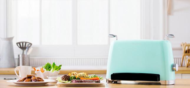 ポップアップ式トースターのようなフォルム ヘルシー調理が可能